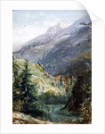 On the Road of Sepey, Switzerland by John William Inchbold
