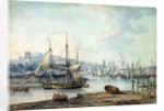 Towing a Warship out of Bristol Harbour, 1783 by Nicholas Pocock
