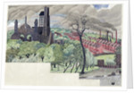 Millworkers Landscape, c.1920 by John Northcote Nash