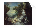 Landscape with Waterfall, c.1700-07 by Antonio Marini
