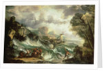 Seascape with Shipwreck, c.1700-07 by Antonio Marini