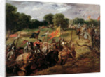 'With all their banners bravely spread', 1878 by Sir John Gilbert