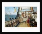 A Conversation at Sea, 1885 by Allan J. Hook