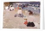 People Sitting on the Beach, 1906 by Joaquin Sorolla y Bastida