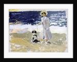 Lady and Dog on the Beach, 1906 by Joaquin Sorolla y Bastida