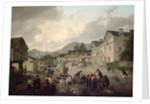 The Market Place, Ambleside, 1817 by Julius Caesar Ibbetson