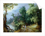 Landscape with Sportsmen and Dogs by Paul Brill or Bril