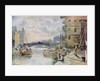 Leeds Bridge from Aire and Calder Navigation Wharf, 1911 by Arthur Netherwood