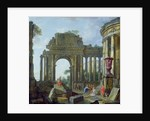 Roman Ruins with the Blind Belisarius by Giovanni Paolo Pannini or Panini