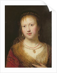 Portrait of Saskia, after a painting by her husband Rembrandt Harmens. van Rign by Johann Andreas Joseph Francke