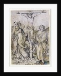 Christ on the Cross, with the Virgin and St. John by Martin Schongauer