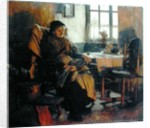 In the Firelight, 1900 by Walter Langley