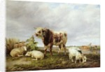 Cattle in the Meadow, 1843 by Thomas Sidney Cooper