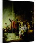 The Raising of Lazarus by Christian Wilhelm Ernst Dietrich