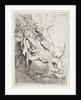 The Lion Hunt with One Lion by Rembrandt Harmensz. van Rijn