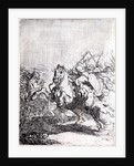 A Cavalry Fight by Rembrandt Harmensz. van Rijn