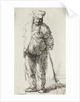 Beggar leaning on a Stick by Rembrandt Harmensz. van Rijn
