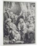 Joseph Telling his Dreams by Rembrandt Harmensz. van Rijn