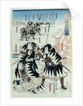 Scene from Act XI of 'Chiushingura or, The Loyal League: A Japanese Romance', by Monzayemon Chikamatsu by Utagawa Kunisada