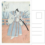 The Actor Bando Tokuke as Takahastu Yajuro, a Samurai by Utagawa Kunisada