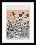 Ronin Attacking the Kiras Gate, scene from Act XI of 'Chiushingura or. The Loyal League: A Japanese Romance', by Monzayemon Chikamatsu by Utagawa Kuniyoshi