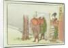 Two Travellers Asking for Directions, Totsuka, Tokaido by Katsushika Hokusai