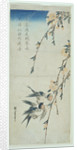 Swallows and Peach Blossom in Moonlight by Ando or Utagawa Hiroshige