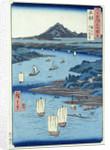 Magami River and Tsukiyama, Dewa Province by Ando or Utagawa Hiroshige