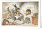 'Tiddy-Doll, the Great French Gingerbread Maker, Drawing Out a New Batch of Kings. His Man, Hopping Talley, Mixing Up the Dough', pub. by Hannah Humphrey, 23rd January 1806 by James Gillray