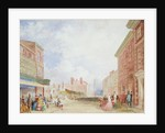 View of Kirkgate, Leeds, 1854 by Isaac Fountain