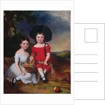 Annie and John Edward, children of Thomas Rhodes of Leeds by William Keighley Briggs