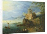 Sea Coast with the Temple of Vesta by Paul Brill or Bril