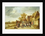 Peasants Dancing Outside an Inn by David the Younger Teniers