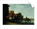 Riders Watering their Horses by Philips Wouwermans or Wouvermans