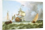 The Warship 'Hollandia' in Full Sail by Ludolf Backhuysen