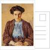 The Blue Blouse, Portrait of Elene Zompolides by Harold Gilman