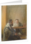 Interior with Two Rabbis by Sir William Rothenstein