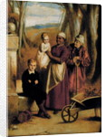 Two Children, Nurse and Old Man by William Mulready