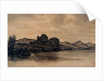Italian Landscape with Domed Building by Alexander Cozens