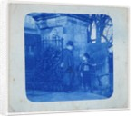 John Atkinson Grimshaw and Elaine Grimshaw at the gates of Knostrop Hall by British Photographer