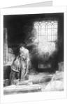 Dr Faustus in his Study by Rembrandt Harmensz. van Rijn