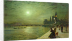 Reflections on the Thames, Westminster, 1880 by John Atkinson Grimshaw