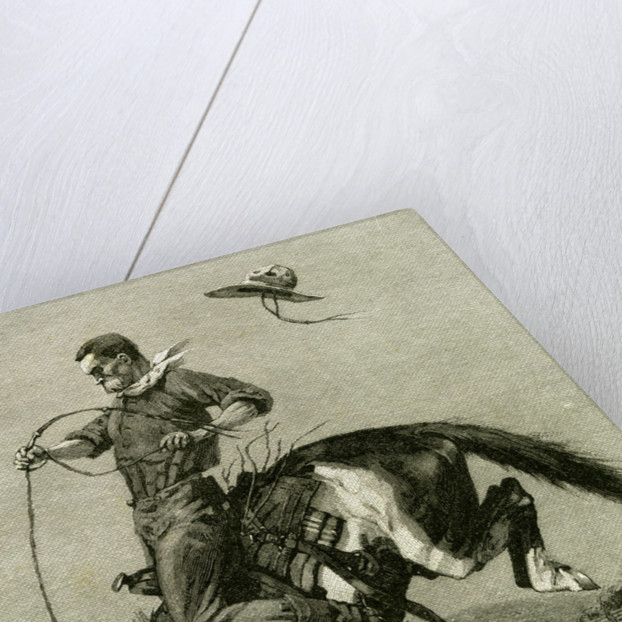 A Bronco Buster Riding a Bucking Horse 1891 USA by Anonymous