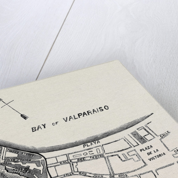 Plan of Part of the City of Valparaiso by Anonymous