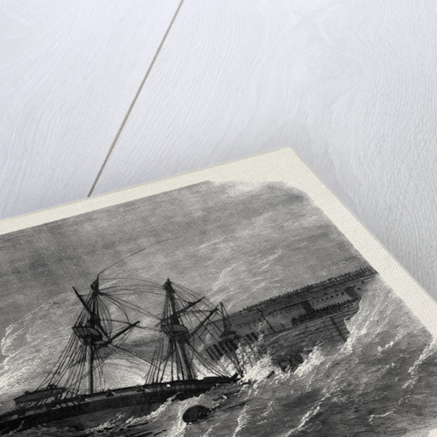 The Volunteer Review at Dover: Wreck of H.M.S. Ferret UK 1869 by Anonymous