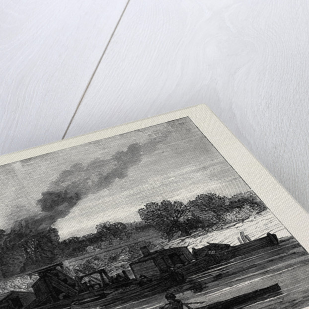 The Cam River Improvements: Dredging Near Cambridge UK 1869 by Anonymous