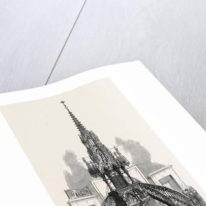 The Paris International Exhibition: Carved Oak Pulpit in the Rue De Belgique France 1867 by Anonymous