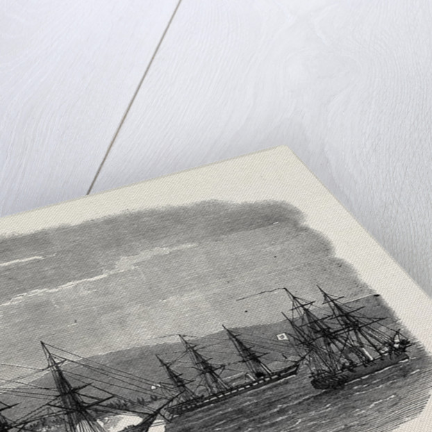 The Captured Greek Blockade-Runner Arkadi Towed Up the Dardanelles 1867 by Anonymous
