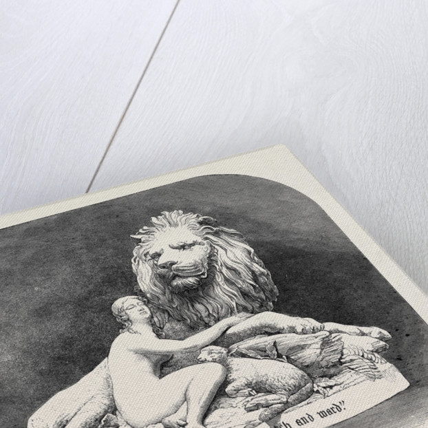 Una and the Lion in Metal, the International Exhibition 1862 by Anonymous