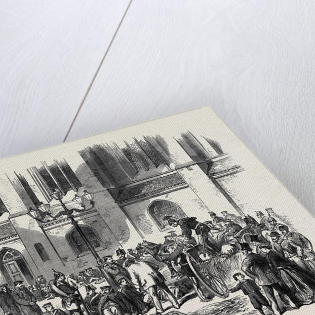 The Austro-Prussian War: Halt of a Convoy of Sick Prussian Soldiers Returning to Berlin 1866 Germany by Anonymous